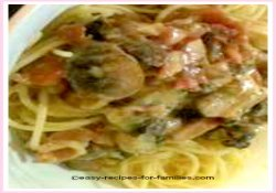 Serve this easy carbonara recipe over long pasta such as spaghetinni