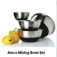 Amco Mixing Bowl Set of 3, Non Skid Base.  CLICK HERE FOR MORE DETAILS
