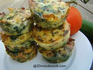 Beautiful Bacon and  Egg Muffins!