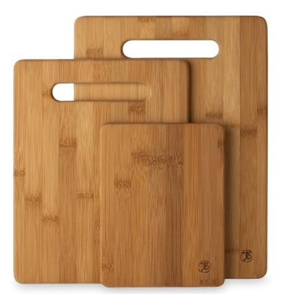 Bamboo Cutting Board, comes in a set of 3. Natural, attractive, durable and strong.