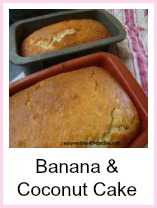 Banana Cake Recipe with Coconut. One of our really easy recipes!