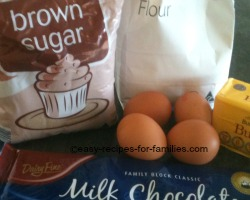 Ingredients for best brownie recipe