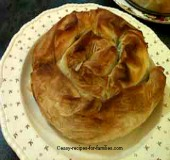 Pumpkin and Spinach pie in filo pastry