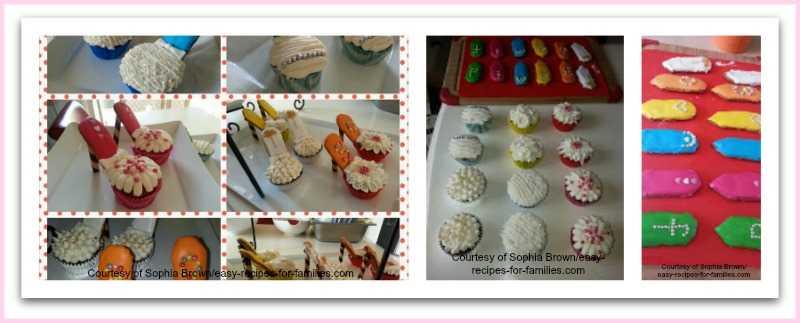 How Sophia made these elegant birthday cupcakes.