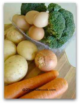 Ingredients for a Cold Broccoli Salad Recipe