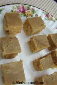 Slices of our yummy butterscotch dessert