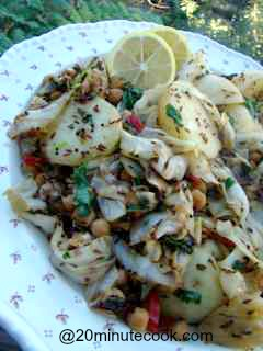 Delicious Cabbage Salad Recipe with Potatoes, spiced with Gujerati spices