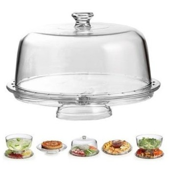 Clearmax cake stand which can be used in six different ways. Excellent value!