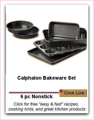 6 Pc Calphalon Bakeware Set Ideal For Novice Cooks