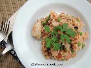 Chicken Paella plated