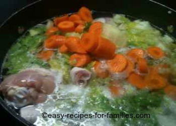 Chicken Soup Cooked in A Slow Cooker