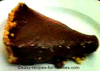 Grandma's no-bake chocolate pie