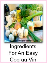 Easy French Recipes - Coq Au Vin - ingredients