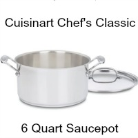 Cuisinart Chef 6 qt Stainless Steel Saucepot. CLICK HERE FOR MORE DETAILS