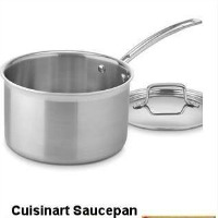 Cuisinart Saucepan - 4 Quart Multiclad Steel. CLICK HERE FOR MORE DETAILS