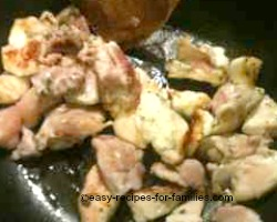 chicken cooked for filling in the diabetic pumpkin pie recipe