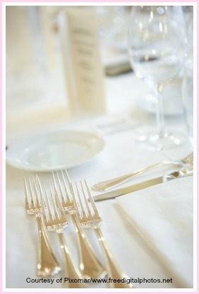 elegant table setting for an elegant dinner party