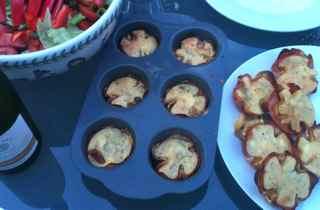 Easy Appetizer Recipes - Ham and Polenta Mini Cakes