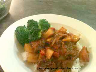 Easy beef stew recipe - Gravy Beef With Mustard Sauce