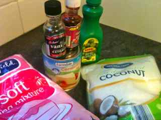Easy Candy Recipes | No Bake No Copha Coconut Candy - Ingredients