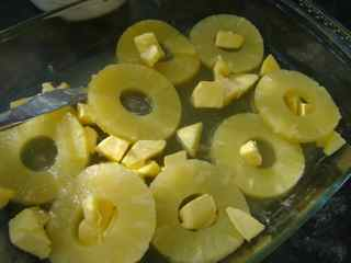 Make the easy cobbler in an oven proof serving dish.