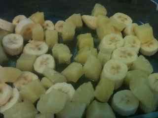 Easy Cobbler Recipe - Tropical Cobbler- Lay Fruit In Dish