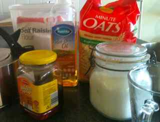 Ingredients for easy cookie recipe