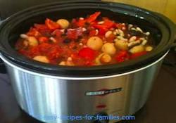 Easy Crock Pot Recipe - Pork with Raisins Mushrooms Mustard and honey