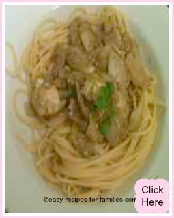 chicken tapenade pasta sauce with spaghetti