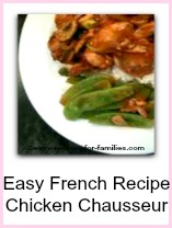 thumbs for easy french recipe, of chicken chausseur plated