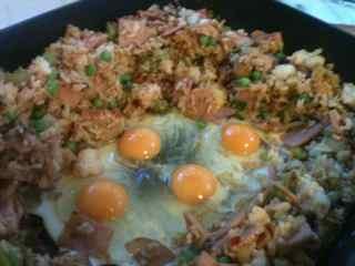 Easy Fried Rice Recipe - Add eggs