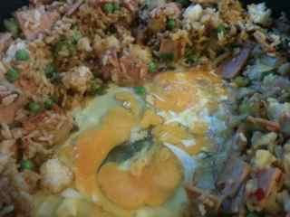 Easy Fried Rice Recipe - Break the egg yolks