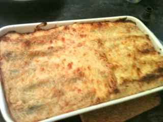 Easy Italian Recipes - Spinach Cannelloni Freshly Baked