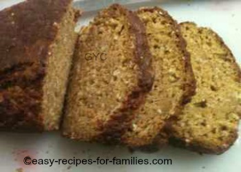 Easy Pumpkin Bread sliced into thick slices