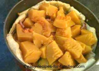 Pumpkin layer in this easy pumpkin pie recipe