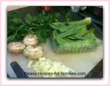 ingredients for easy vegetable recipe