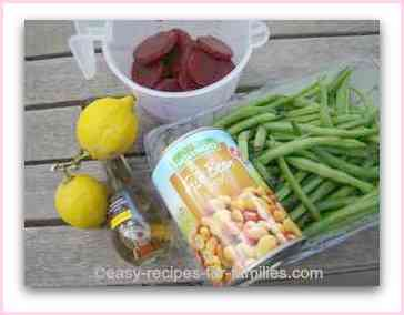 Ingredients for Fresh Green Bean Salad