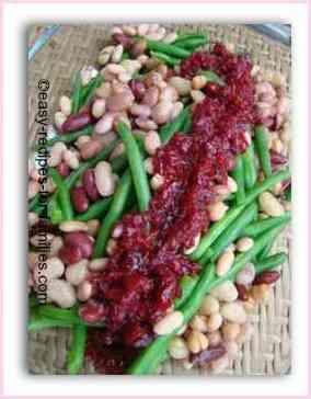 Fresh Green Bean Salad With Beetroot Relish