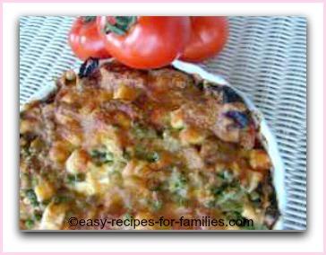 baked healthy vegetarian flan