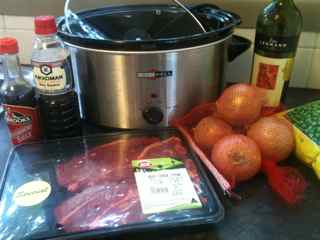 Ingredients for Gen's budget homemade beef stew recipe