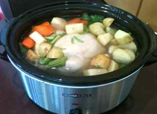 My Mom's homemade chicken soup recipe.