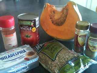 Ingredients for this easy pumpkin chili