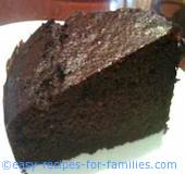 Slice of chocolate cake from homemade chocolate cake recipes