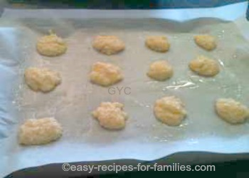 Homemade Cookie Recipe - Coconut Drops - ready for baking