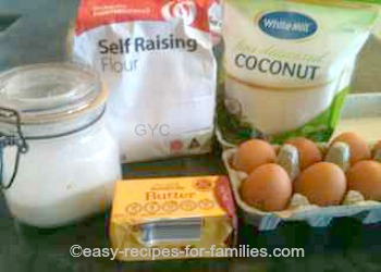Homemade Cookie Recipe - Coconut Drops - Ingredients