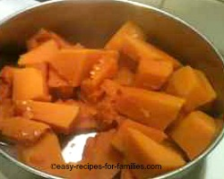 Boil the pumpkin till very soft