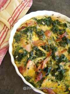 Learn how to cook a quiche - this one is gluten free.
