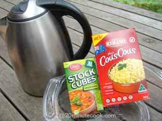 That's all the ingredients to cook couscous!