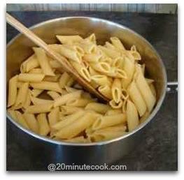Stir oil through the cooked pasta