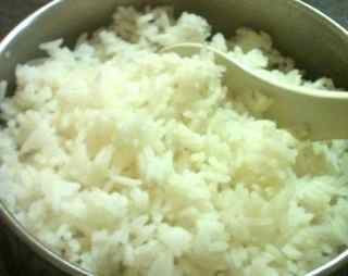 Fluffy just cooked rice
